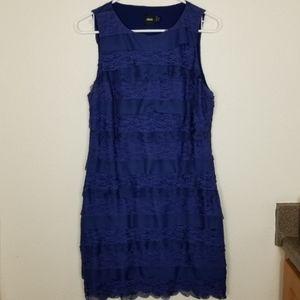 ASOS  Blue sleeveless layered lace scallop dress